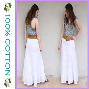 INC White Cotton Maxi Skirt Size 4